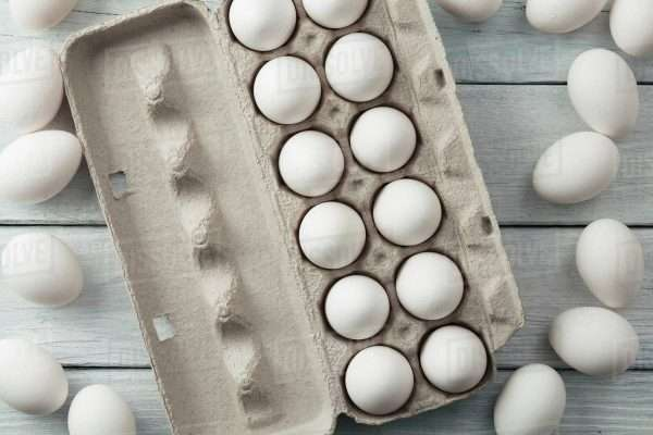 12x White Chicken Egg - Dozen Eggs