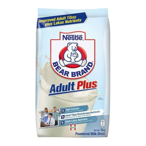 Bear Brand Adult Plus Powdered Milk 1kg