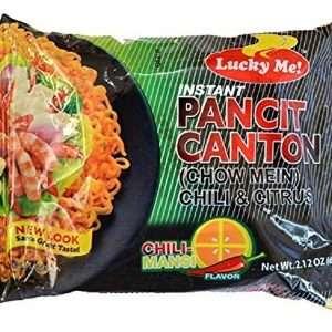 Ramen Noodle - Pancit Canton Chow Mein Instant Noodles Pack Chili Flavor